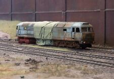 OO gauge scrapyard Class 47 diesel  loco, heavily rusted and weathered
