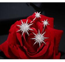 Boucles d`Oreilles Clous Argenté Ear Jacket Etoile Pavé Moderne Fashion AA 14