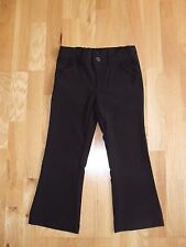 Girls Matalan black school trousers adjustable waist, front pockets, size 6 yrs