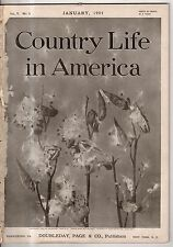 1904  Country Life January-Whittier home - Haverhill MA; Build a rural telephone