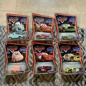 6 DISNEY CARS LOT SUPERCHARGED BRAND NEW MATER CHICK HICKS MCQUEEN HAMM LEAK LES
