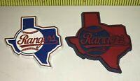 LOT Vintage MLB 2 TEXAS RANGERS Rubber Fridge MAGNETS Standings Board BASEBALL