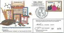 1981 Pharmaceutical Education Ciba-Geigy Limited Cover no 3476 Special Postmark