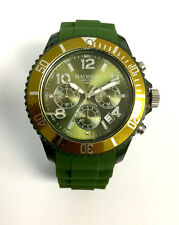 Madison New York U4362-18 CHRONO Olive grün Damen Herren Uhr Silikon Kinderuhr