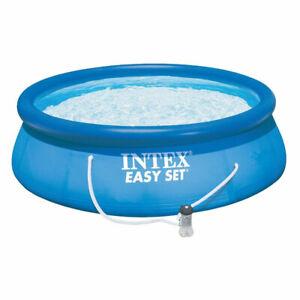 INTEX Piscine Gonflable Hors Sol Ronde Autoportante + Epurateur - Ø 3,05 x 0,76m