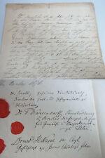 Ärztliches Zeugnis Anstalt ILTEN 1876 signiert u.a. Ludwig SNELL, F. WAHRENDORFF