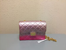 Designinverso Milano Quilted Effect PVC Shoulder Bags in Sfu Fucsia Color, 6649