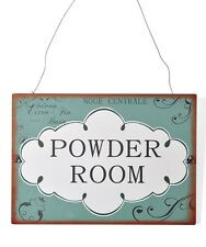 Shabby Chic Vintage Style - Powder Room Metal Plaque - New