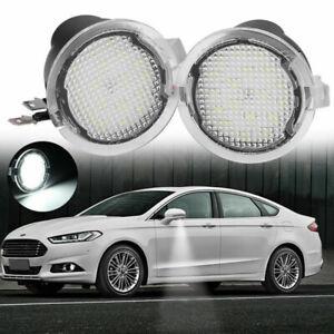 2Pc LED Side Mirror Under Puddle Light For Ford F150 Edge Explorer Raptor Fusion