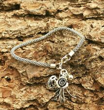 Edles Armband mit kleinen Silberanhängern Länge 16,5cm 925 Silber Handarbeit