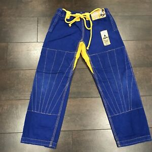 Tatami Zen Gorilla Blue Kids M2 Pants Jiu Jitsu Fightwear Martial Arts Yellow