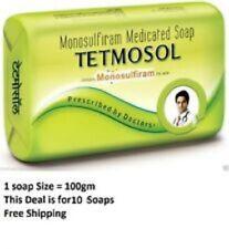 4 X TETMOSOL Soap Monosulfiram Medicated skin infection Eczema Itch TFM 75% 100g