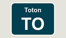 1x Toton Train Depot Sticker/Decal 100 x 77mm