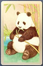 SWAP CARD. PANDA BEAR WITH BAMBOO ILLUSTRATION. CONGRESS FRASER COLLECTION c1985