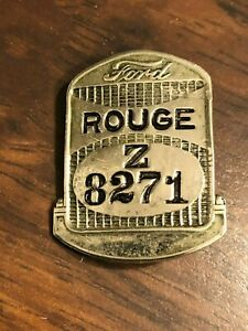 Henry Ford Rouge Radiator Dearborn Michigan USA Employee I.D. Badge Pin Z8271