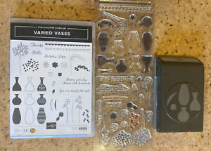 Stampin' Up Varied Vases Stamp Set with Matching Vase Punch