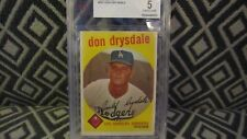 DON DRYSDALE 1959 TOPPS #387 BVG 5 EXCELLENT DODGERS HOF ALL STAR