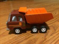 """Vintage Metal DUMP TRUCK Brown & Orange Bed 6"""" Bed Dumps!!"""