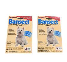 (2) Sergeant's Bansect Flea & Tick Control - Dog Treatment Medicine - Up to 33lb