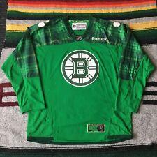 Authentic Reebok Boston Bruins St Patricks Day Replica Jersey Green XL Clover