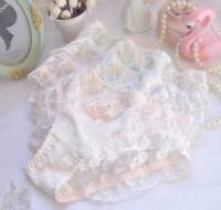 Beautiful Lolita Lace Panties with Bow - Japanese Korean Princess Lingerie
