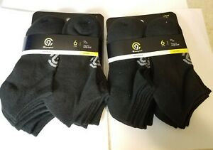 C9 Champion Low Cut Duo Dry Youth Socks Black 6 Pair Size 3 to 9 Large