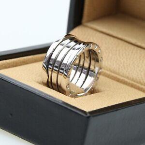 Bvlgari 18ct White Gold B-Zero 4 Band Ring - Size 56 - 18k 750