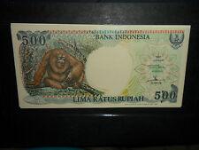 1998 Indonesia lima ratus (500) rupiah ORANGUTANG banknote(s) , UNCIRCULATED !!!
