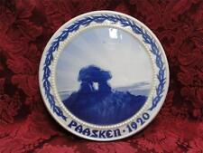 Bing & Grondahl Easter Paasken Blue & White Plaque 1920 The Ancient Tomb