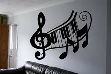 "Clef Music Notes Vinyl Wall Decal Sticker Home Decor Art v2 12"" x 18"""