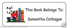 "60 Personalized ""This Book Belongs To"" Return Address Labels Favors"