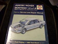AUSTIN ROVER MONTEGO 1.3 1.6 1984 - 1994 A - L REG NEW HAYNES WORKSHOP MANUAL