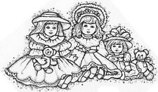 Wood Mounted Rubber Stamps, Vintage Dolls, Doll Stamps, Toys, Antique Doll Stamp