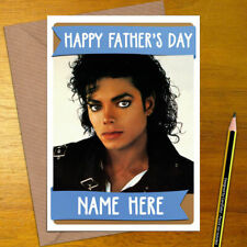 MICHAEL JACKSON Personalised Mother's / Father's Day Card - mothers fathers