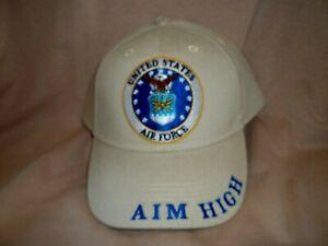 Air Force Veteran, 100% Cotton, Embroidered Ball Cap, Khaki