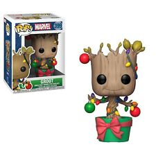 Funko - POP Marvel: Holiday - Groot w/ Lights & Ornaments