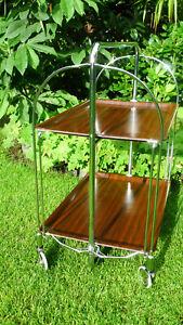 original Gerlinol / Bremshey Dinett Servierwagen Teewagen, klappbar, 70er Jahre