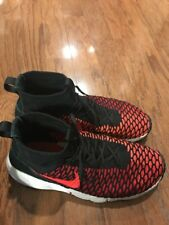 Nike Air FootScape Magista FlyKnit Black Crimson Red # 816560-002 Size 11