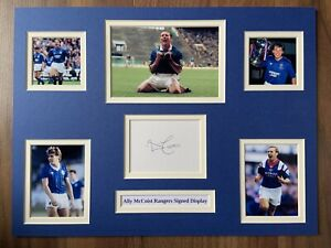 """Rangers Ally McCoist Signed 16"""" X 12"""" Double Mounted Display"""