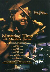 2005 Print Ad of Pearl Masters Series Drum Kit w Ian Paice of Deep Purple