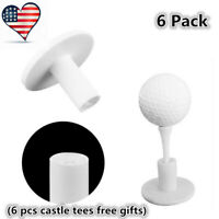 "Golf Tees Dura Rubber Tee For Driving Range Practice Mat New 6 Pack 1.5"" 2"""