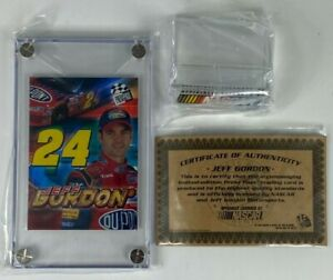 PRESS PASS LIMITED EDITION JEFF GORDON 2004 TRADING CARD ENCASED COA MINT STAND
