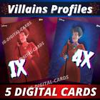 Lady Tremaine Villains Profiles 1 SR + 4 RARE / Topps Disney 2021 [ 5 DIGITAL  ] For Sale
