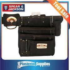 Spear & Jackson 7 Pocket Leather Nail Bag Pouch Sj-lpbb7