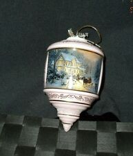"Thomas Kinkade Media Arts Glass Ornament ""Home For The Holidays"""