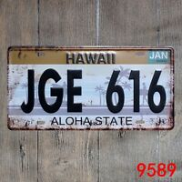 Metal Tin Sign hawaii aloha plaque Decor Bar Pub Home Vintage Retro Poster Cafe