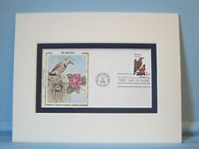 State Bird & Flower of Alabama - The Yellowhammer & Camellia & First Day Cover