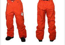 686 Infinity  Cargo Snowboard Pant (L) Tomato Herringbone