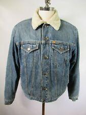 F6087 Men's Polo Ralph Lauren Sherpa Lined Denim Jean Trucker Jacket Size M