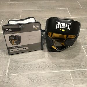 EVERLAST Boxing Pro Training Headgear Black and Yellow No Size Referenced, Clean
